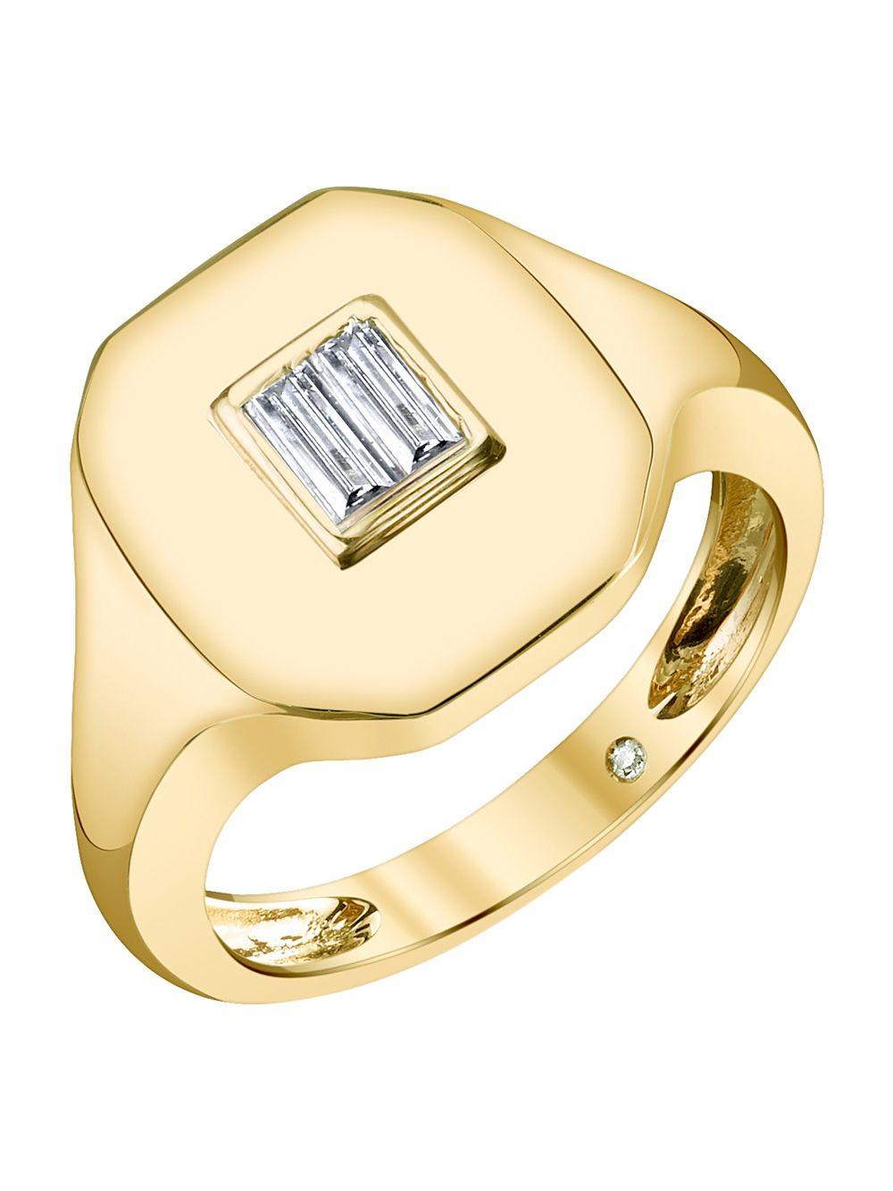 Shay 18K GOLD BAGUETTE PINKY DIAMOND RING