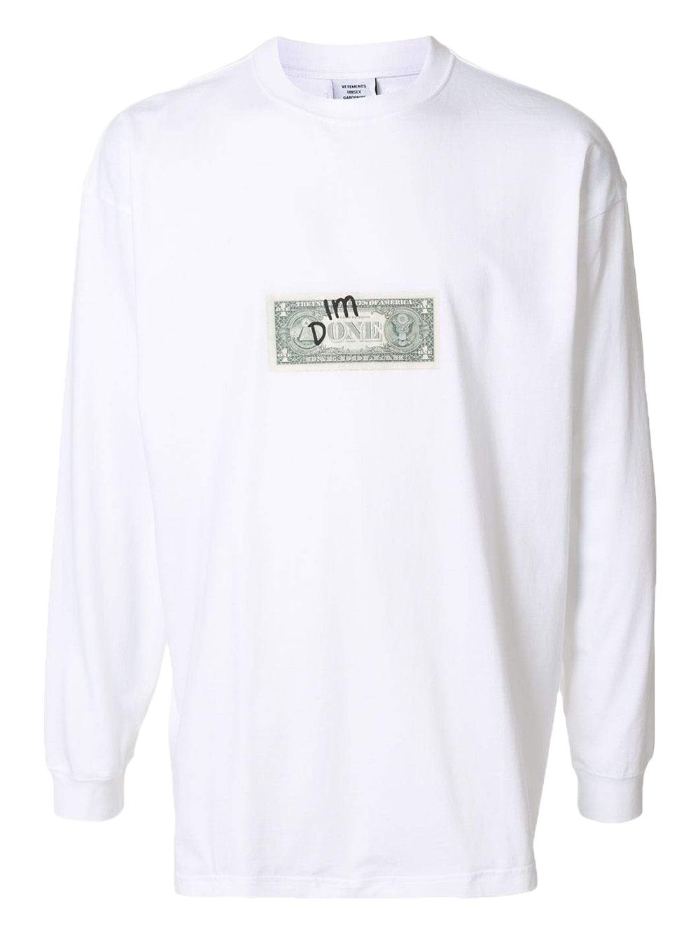 Vetements I AM DONE LONG SLEEVE T-SHIRT