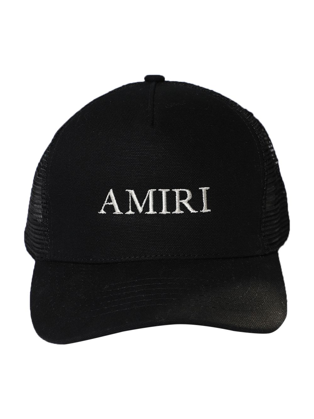 AMIRI BLACK AMIRI LOGO TRUCKER HAT
