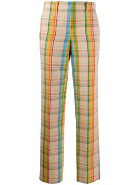 Loewe - Multicolored Check Print Pants - Women