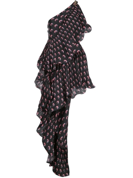 asymmetric hybrid flamenco dress