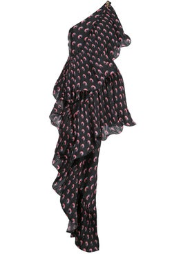 Marine Serre - Asymmetric Hybrid Flamenco Dress - Women