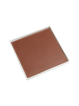 Singular Square tray, brown S