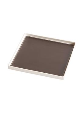 Singular Square tray , Brown