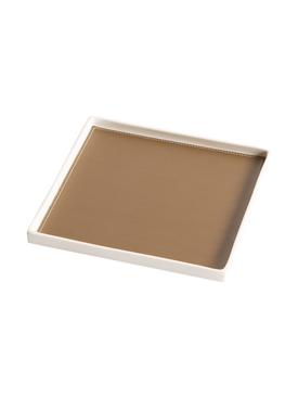 Singular Square tray, Tobacco