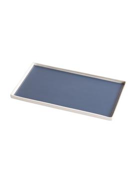 Singular Rectangular tray, blue