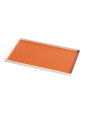 Singular Rectangular tray, Orange