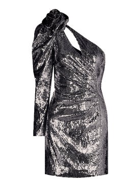 Dundas - Gunmetal Sequin Mini Dress - Mini