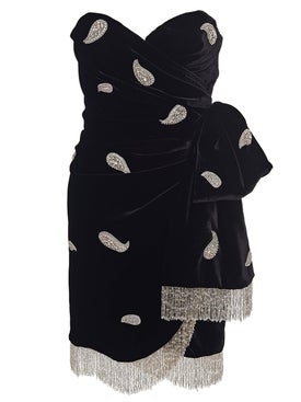Dundas - Embellished Velvet Strapless Dress - Women