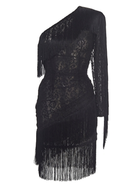 Dundas - Fringed Lace Mini Dress - Women