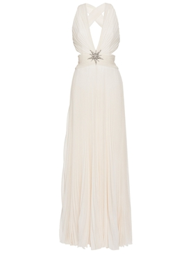 Cut out Silk Maxi Dress