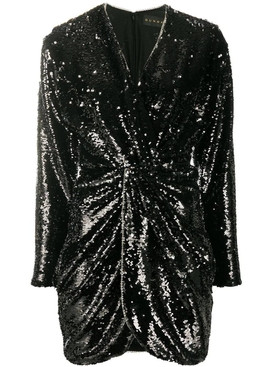 Twist Front Sequin Mini Dress