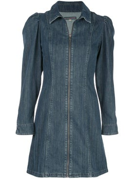 Alexachung - Puffed Sleeve Mini Denim Dress - Women