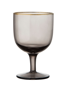 Set of 6 Deco Water Goblets Grey