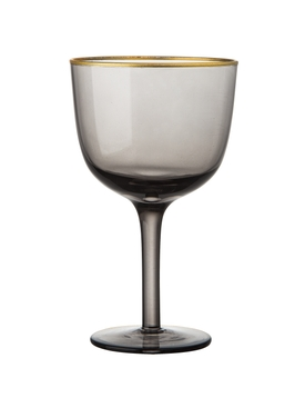 Set of 6 Deco Wine Goblets GREY