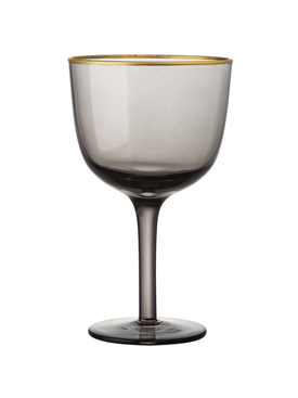 Bitossi Home - Set Of 6 Deco Wine Goblets Grey - Home