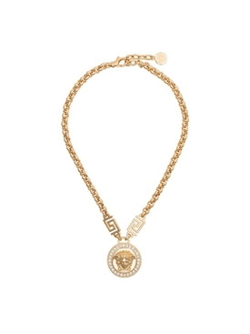 Gold- Tone Medusa Medallion Necklace