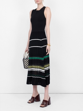 Striped Rib Dress BLACK