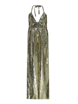 Dundas - Gold Sequin Jumpsuit - Women