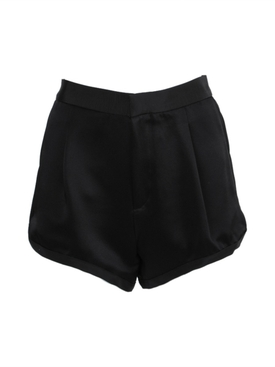Dundas - Tailored Satin Shorts Black - Women