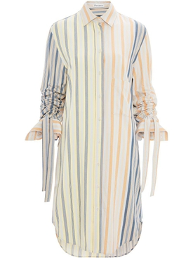 J.w. Anderson - Striped Multicolored Shirt Dress - Women