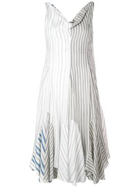 J.w. Anderson - Striped Handkerchief Dress - Women