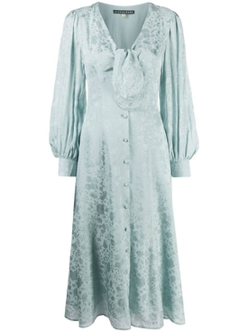 Alexachung - Floral Icy Blue V-neck Dress - Women