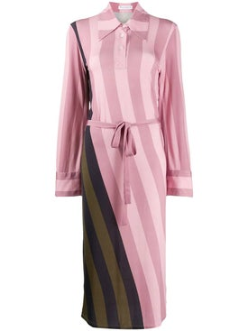J.w. Anderson - Striped Polo Shirt  Dress - Women