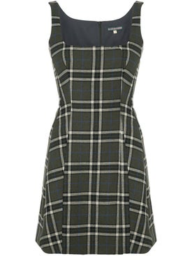 Alexachung - Green Check Print Mini Dress - Women