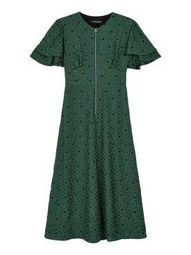 Alexachung - Green Flower Print Midi-dress - Women