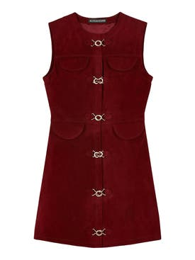 Alexachung - Burgundy Suede Mini Dress - Women