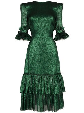 The Vampire's Wife - Emerald Green Midi Dress - Women