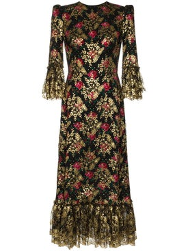 The Vampire's Wife - Wild Rose Midi Dress - Women