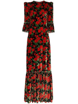 The Vampire's Wife - Festival Rose Print Maxi Dress - Women