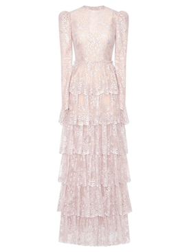 The Vampire's Wife - Tiered Floral Lace Gown - Women