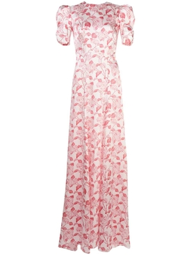 Hortensia silk maxi dress RED HORTENSIA