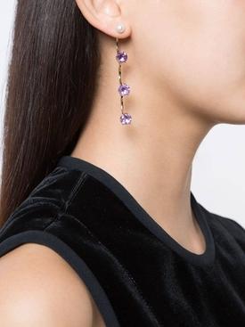 Amethyst Drops earring