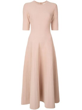Casasola - Nude Knitted Flared Dress - Women