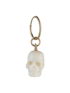 white skull single earring