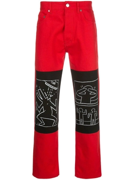 Études X Keith Haring red denim jeans