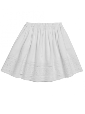 Dixie A-line skirt WHITE