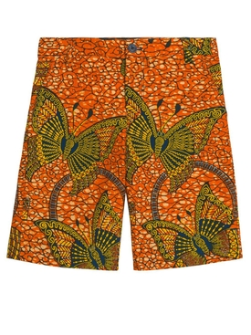 Elyas Multicolor kids Shorts Orange