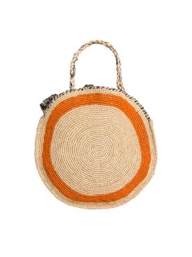 Round basket bag NEUTRAL