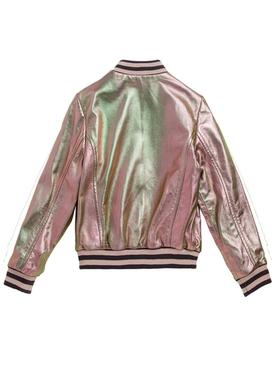 iridescent bomber jacket PINK
