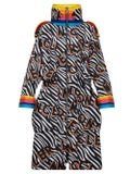 Moncler Genius - 0 Moncler Richard Quinn Ava Long Zebra Print Coat - Women
