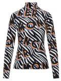 Moncler Genius - 0 Moncler Richard Quinn Zebra Long Sleeve Fitted Turtleneck - Women