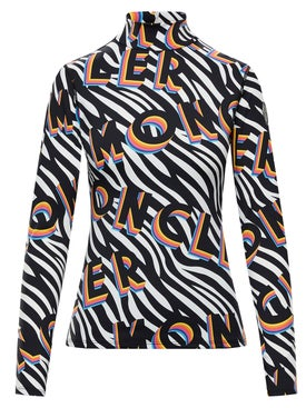 Moncler Genius - 0 Moncler Richard Quinn Zebra Long Sleeve Fitted Turtleneck - Women