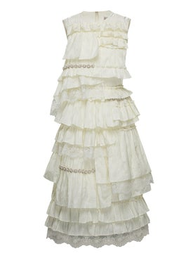 Moncler - 4 Moncler Simone Rocha Ruffled Dress - Women