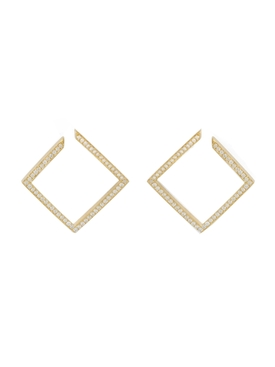 Azlee - White Light Pave Earrings - Women