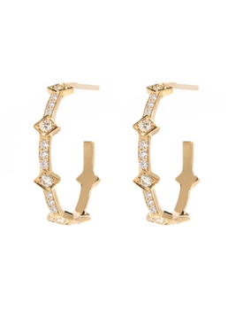 Azlee - Illuminate Full Diamond Hoops - Women
